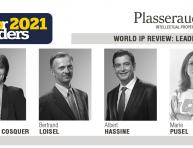 "Four Plasseraud IP's experts recognised ""WIPR Leaders 2021"""